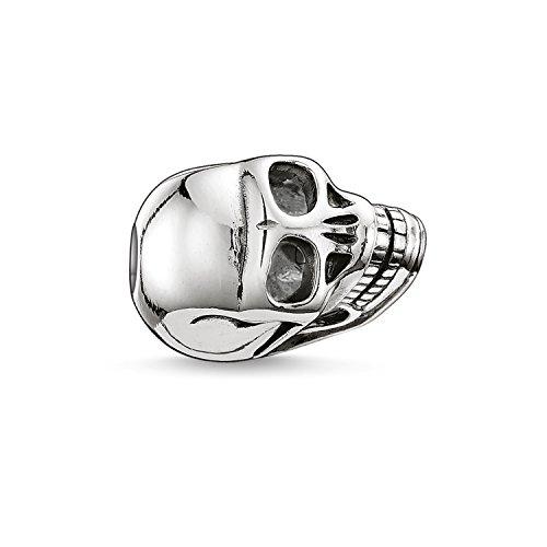 Thomas Sabo Damen Herren-Bead Totenkopf Karma Beads 925 Sterling Silber geschwärzt K0064-001-12