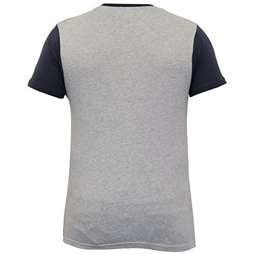 Herren T-shirt Brave Soul Kurzärmelig Skelettaufdruck Freizeittop Mode Sommer Marineblau/Grau - 149TRACE