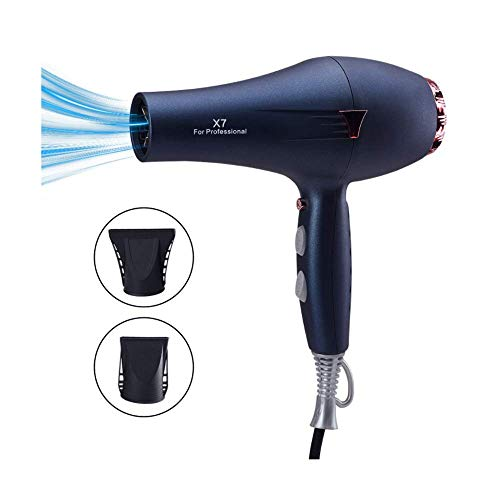 Professionelle Negativ-Ion-Haartrockner 1600W-1999W 3 Speed Adjustable, Hot And Cold Protection, Low Noise, Soft And Smooth Hair For Home And Salon,Blue