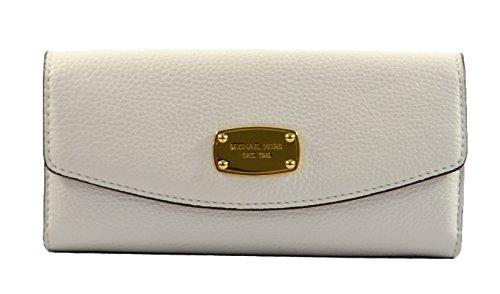 Michael Kors Jet Set Slim Flap Pebbled Leather Wallet - Weiß - Einheitsgröße