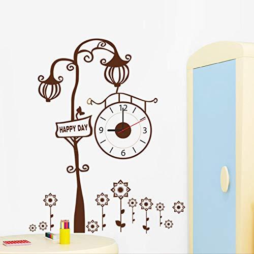 (Zxfcczxf Top Fashion NewModerne Uhr Wandaufkleber Braun Kreative Baum Wohnzimmer Wanduhr Aufkleber)