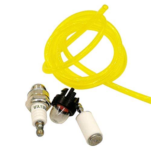 Shioshen Primer Bulb Kraftstoff Schlauch Filter Zündkerze Leinensatz für Husqvarna Craftsman Mcculloch Kettensäge Trimmer Gebläse