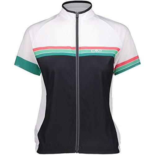 CMP Damen Rad Shirt Trikot, Antracite-Mint, 36