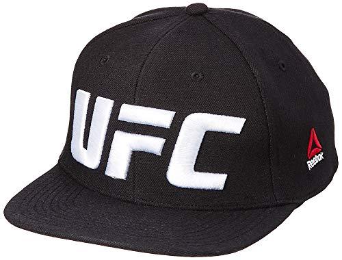 Reebok Herren UFC Flat Peak Cap Kappe, Schwarz, Einheitsgröße -