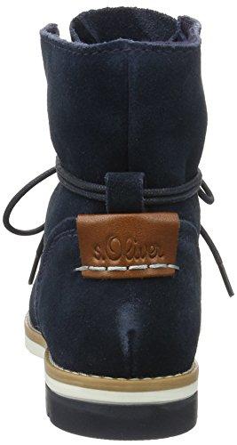 s.Oliver 25203, Bottes Chukka Femme Bleu (Navy 805)