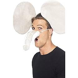 NET TOYS Elefantenkostüm Set mit Ohren und Rüssel 3 teilig Elefanten Kostüm Elefantenohren Elefantenrüssel Elefant Kostümset