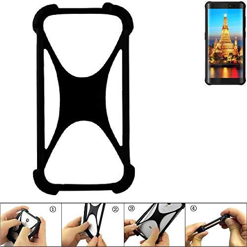 K-S-Trade Handyhülle für Energizer H590S Schutz Hülle Silikon Bumper Cover Case Silikoncase TPU Softcase Schutzhülle Smartphone Stoßschutz, schwarz (1x)