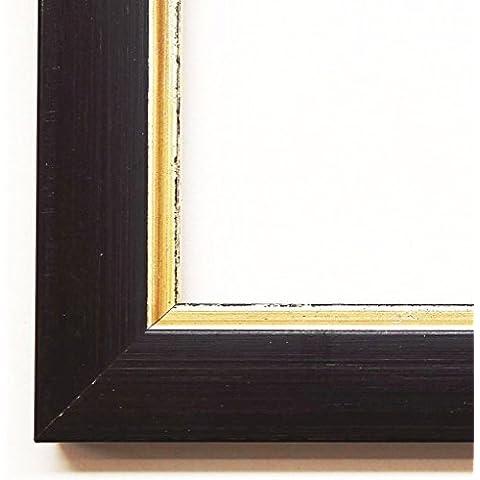Cornice portafoto Altdorf Nero Oro 1,9–vuoto telaio senza vetro 80x 90cm–Molti misure a scelta–Altre varianti con luce normale vetro, Museum vetro, Plexiglas, disponibili in negozio–anticato, Modern