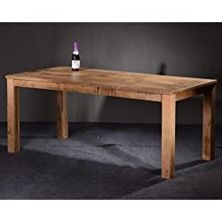 SalesFever-Mesa de comedor de madera maciza-Tamil Mango de tamaños diferentes (140x 90x 76cm)