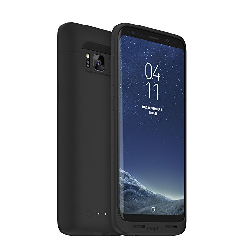 Mophie Juice Pack – Wireless Charging Protective Battery Pack Case for Samsung Galaxy S8 – Black