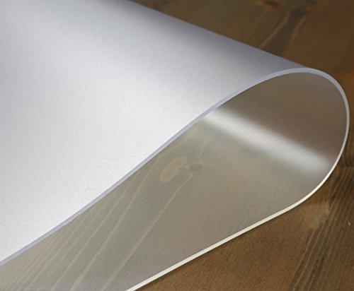 durchsichtige tischdecken Tischdecke Folie 2 mm transparent einseitig mattiert, KEINE BLASENBILDUNG, Schutzfolie Tischschutz, Größe wählbar (90 x 160 cm)