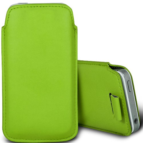 Grün / Green - Microsoft Lumia 532 Premium-Qualität Tasche Skin Hülle Cover aus PU-Leder mit Lasche zum Herausziehen von Gadget Giant®
