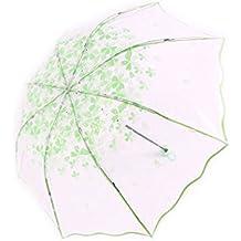 Doitsa paraguas transparente paraguas de flor de cerezo paraguas plegable gastos y Simple Romance de moda