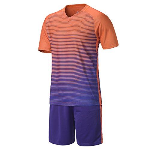 DAYU Kinder Jungen Fussball Trikots Eltern-Kind-Ausrüstung Männer Sports Trainingstrikots Trikot und Hose (4 Farben Optional)