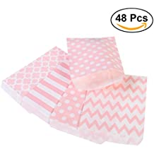 NUOLUX 48pcs bolsos rayados del regalo del papel del caramelo del lunar para el partido (