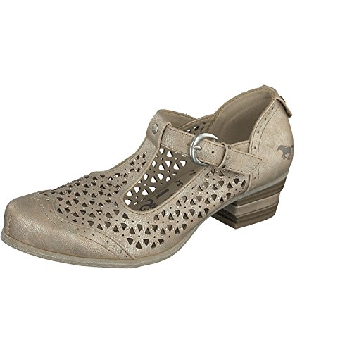 Mustang 1187-205 Scarpe Col Tacco Donna Gold