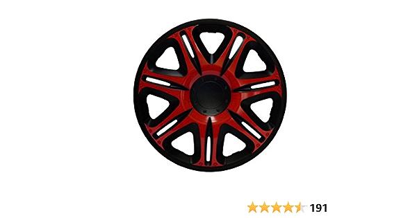 Radkappen Radzierblenden Radabdeckungen 14 Zoll 165 Red Black Rot Schwarz Auto