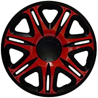 Radkappen Radzierblenden Radabdeckungen 14 Zoll #165 RED-BLACK ROT SCHWARZ