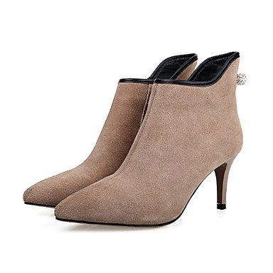 Sanmulyh Mujeres Zapatos Primavera Verano Confort Novedad Bootie Zapatos De Tacón Alto Dedo Del Pie Para El Banquete De Boda Y La Noche Almendra Verde Almendra