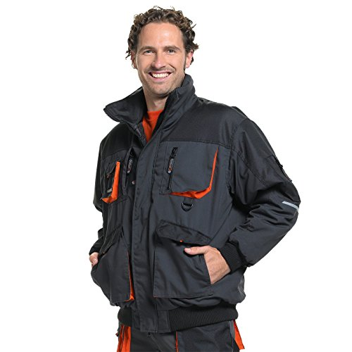 terratrend JOB Winter Pilotenjacke mit warmer Wattierung in grau, Größe XXXL
