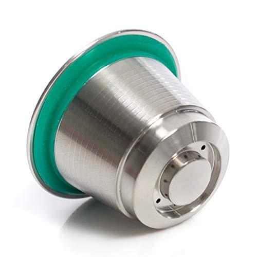 Capsula riempibile Nespresso in acciaio inox, ricaricabile, riutilizzabile, per la propria miscela di caffè, compatibile con macchine Nespresso.