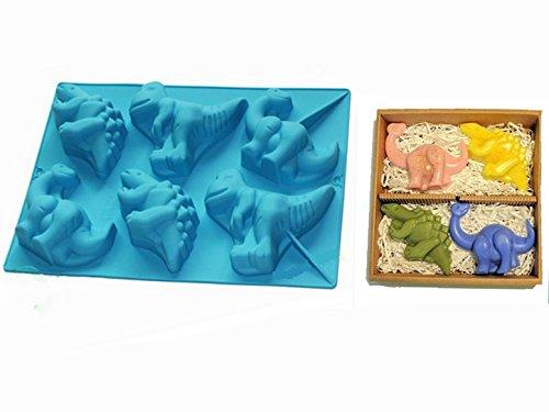 FantasyDay® Premium Silikon Backform/Muffinform für Muffins, Cupcakes, Kuchen, Pudding, Eiswürfel und Gelee - Dinosaurier Brotbackform für eindrucksvolle Kreationen, hochwertige ()