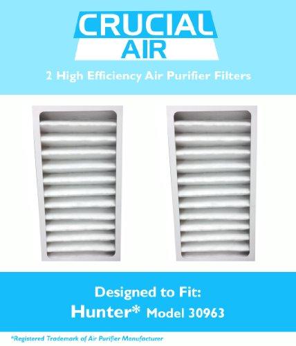 Hunter 30963 Luftreiniger 2 Filter, passend Modelle: Hunter 30715, 30716 &30717 &Design, entworfen von Crucial, -