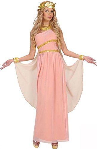 odite Göttin Damen-Kostüm Antike rosa-Weiss-Gold S ()