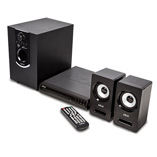 Akai-A60012-Bluetooth-Home-Theatre-Multimedia-System-Compact-DVD-Player-with-Subwoofer-Bass-and-Treble-Controls-Surround-Sound-Compatible-with-MP3-and-MP4-SCART-and-AUX-Output-50-W-Black