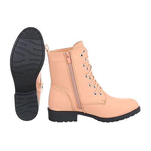 Lacet Design et Apricot Ital Bottes W301 a Bottines Chaussures Femme Bottines Bloc gpnqxzn6w