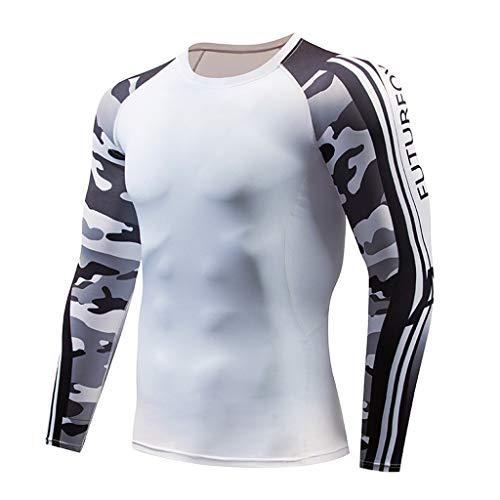 Atmungsaktiv Sport Enges Langarmshirt, Bluestercool Mens Casual schnell trocknende elastische atmungsaktive Sport Tight ()