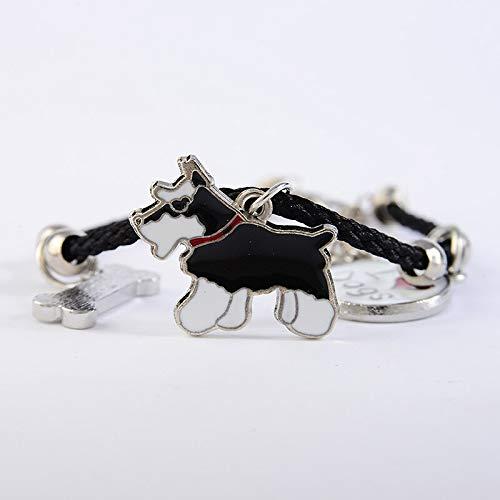 IJEWALRY Damenarmband Armbänder Armband, Mode Persönliche Elegante Charme Armbänder Für Frauen Mädchen Männer Seil Kette Silber Farbe Legierung Pet Hund Anhänger Männlich Weiblich Wickelarmband