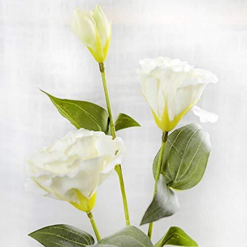 WanTo 1 STÜCK 2018 Europäischen Künstliche Blume 3 Köpfe Gefälschte Eustoma Gradiflorus Lisianthus Weihnachten Hochzeit Home Dekorative, weiß 2 -