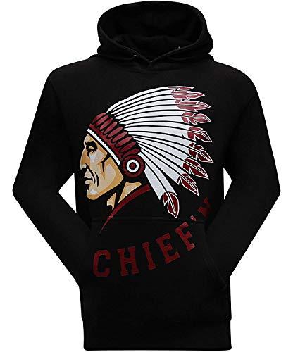 Cyourteem Chief'n Men's Hoodie Hooded Sweatshirt Inside Out Long Sleeve Sweatshirt