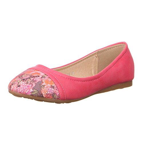 Damen Schuhe, 50906, BALLERINAS Pink