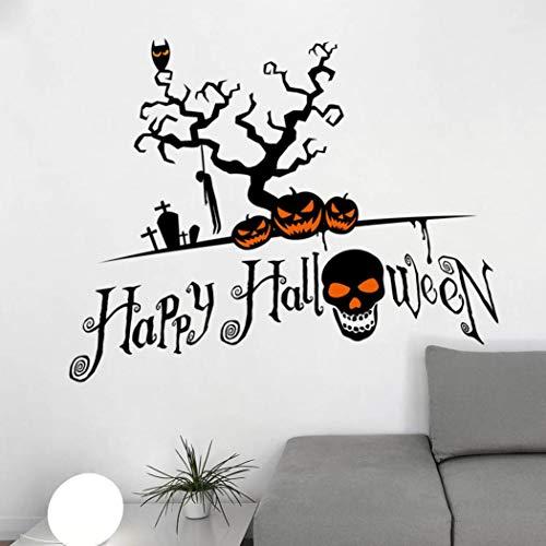 Mitlfuny DIY Entfernbar Vinyl Halloween Wand Aufkleber Gothic Wand Wandbild Horror Wand Grafiken FüR Zuhause Kinderzimmer Wandsticker Wandbilder Wandaufkleber