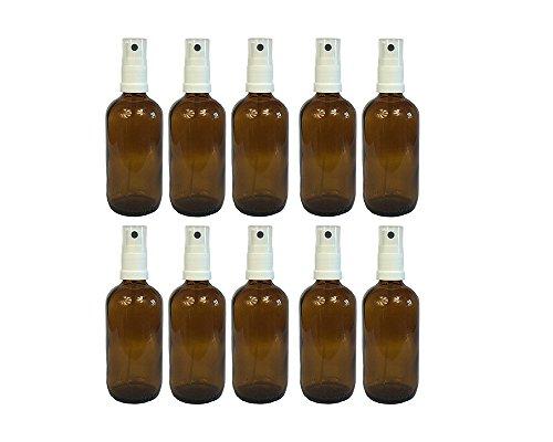 hocz Apotheker-Sprühflasche aus Braunglas Zerstäubereffekt 10 Teilig | Füllmenge 100 ml | Fingerzerstäuber Sprühflaschen Glasflaschen Parfümzerstäuber Made in Germany