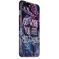 Go Where You Feel Most Alive Red Roses Snap On Back Plastic Phone Cover Shell (Tulip Garden Light)
