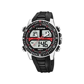 Calypso Watches Reloj Analógico-Digital para Hombre de Cuarzo con Correa en Plástico K5773/4