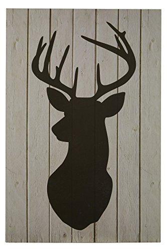 premier-housewares-plaque-murale-silhouette-de-cerf-noir
