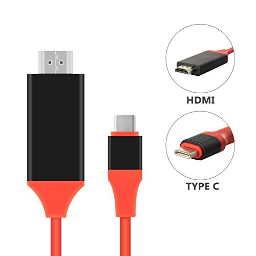 USB C auf HDMI Kabel, 2m USB 3.1 Typ C zu HDMI 4K MHL kabel (Thunderbolt 3 kompatibel) Datenkabel unterstützt Ultra-HD [4K]für Tablets wie MacBook, Samsung Galaxy S8/ S8 Plus, ChromeBook Pixel, (Galaxy Tab 4 Kabel Auf Hdmi)