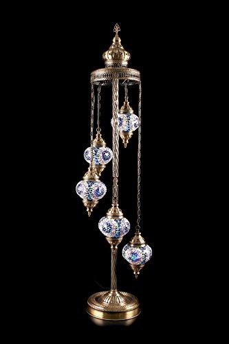 perlit-handgemachte-orientalische-glas-mosaik-stehlampe-121cm-loungeleuchte-blau-mit-stern-ornamente