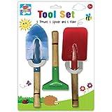 3Pcs enfants Enfants outils de jardin Truelle Râteau Pelle jardinage domestique jouet de plage