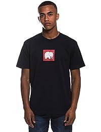 Trendsplant Camiseta de Manga Corta Marca con Logo Elefante en el Pecho en Serigrafía roja y Blanca