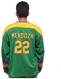 d0f58f1f942 MyPartyShirt Luis Mendoza # 22 Mighty Ducks Film Herren Hockey Jersey 90 's  Kostüm für