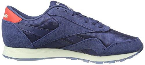 Reebok Damen Classic Nylon Core Sneakers Blau (Midnight Blue/Chalk)