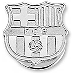 Pin escudo F.C. Barcelona Plata de ley liso [6918] - Modelo: 10-061-L