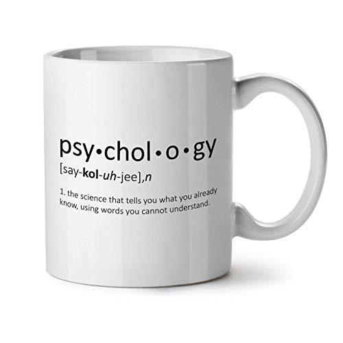 Wellcoda Psychologie Wissenschaft Keramiktasse, Lustig - 11 oz Tasse - Großer, Easy-Grip-Griff, Zwei-seitiger Druck, Ideal für Kaffee- und Teetrinker