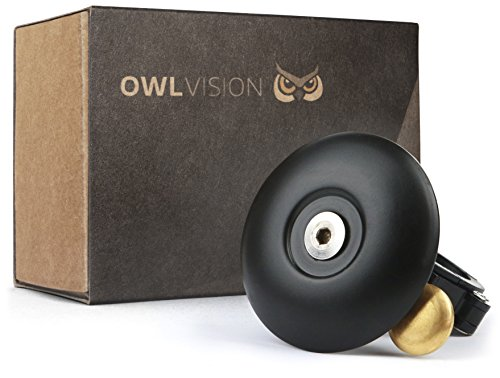 OWL VISION Fahrradklingel Hoot - Cymbal black