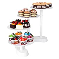 Femor Cake Stand 7 Tier Round Acrylic Cupcake Cup Cake Clear Display Tower for Wedding Birthday Party